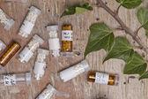 Homeopátia gömböcskék palackok
