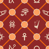 Seamless background with Egyptian symbols for your design