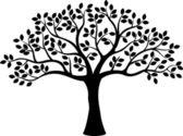 Illustrazione vettoriale di silhouette albero