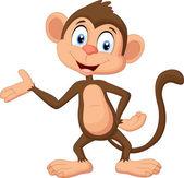 Kreslená opice daruje