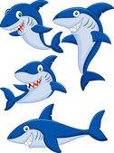 Sada kolekce kreslených žralok