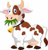 šťastný karikatura kráva
