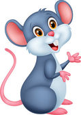 Vector illustration of Happy mouse cartoon