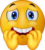 Scared emoticon smiley cartoon