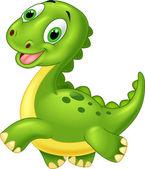 Vector illustration of Happy cartoon dinosaur