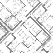Vector  furniture architect plan background Flat Design