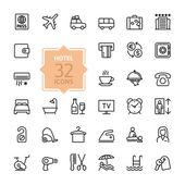 Szerkezeti webes icon set - szállodai szolgáltatások
