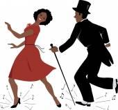 Černý kohout taneční umělci