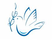 Stylized dove with olive branch Eps10