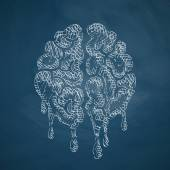 Brain vector icon sketch