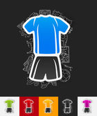Football clothing paper sticker