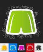 Shorts paper sticker