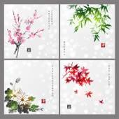 Set of compositions reprezenting four seasons