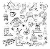 Vector sketches of winter elements