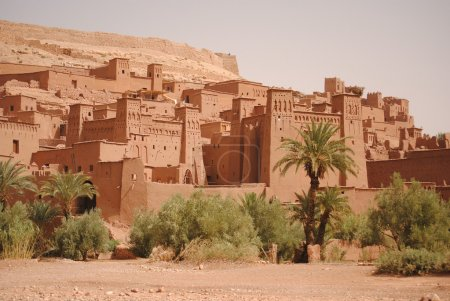 Постер, плакат: Ksar of Ait Ben Haddou Morocco set of many movies, холст на подрамнике
