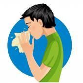 Sneezing man, eps10