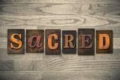 Heiligen Konzept hölzerne Letterpress-Typ