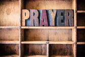 Modlitba koncept dřevěné knihtisk téma