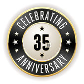 35th Jahrestag-Abzeichen schwarz