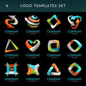 Logo and globe vector symbol web Icon Unusual icon set Graphic design of logo elements easy editable for Your design Modern logotype symbol icon set
