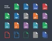 Set of Image File Labels icons Vector illustration