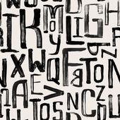 Bezešvé vintage styl vzorek, nerovnoměrné grunge dopisy náhodných