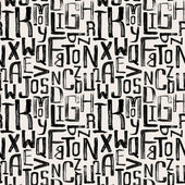Seamless vintage style pattern uneven grunge letters of random size