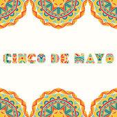 Cinco De Mayo kártya világos mexikói határon