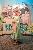 NEW YORK, CIRCA 2011 - Lucille Ball's from 'I Love Lucy' wax figure in Madame Tussaud's museum in New York