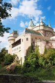 Historický zámek Bojnice ve Slovenské republice. Pohled na starý hrad postavený ve 12. století