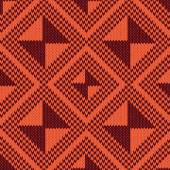 Abstract Ornamental Seamless Vector Pattern as a stylish Fabric Knitted geometric texture mainly in orange and brown hues