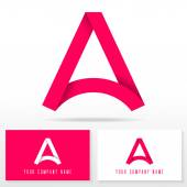 Letter A logo icon design - vector sign Business card templates