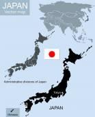 Japonsko geografických map