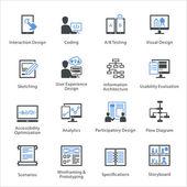 Web-Usability  Accessibility Icons Set 2 - Bleu-Serie