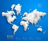 Abstract Vector Polygonal World Map