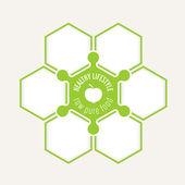 Abstraktní šestiúhelníky pro text a ikona životního stylu