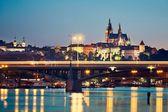 Panorama Prahy v noci