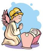 Anděl strážný a holčička