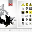 Постер, плакат: Nuclear power plants map of Canada