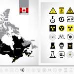 Постер, плакат: Nuclear power plants map of Canada