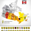 Постер, плакат: Nuclear power plants map of Canada 2