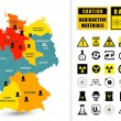 Постер, плакат: Map of Germany with nuclear power plants