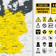 Постер, плакат: Nuclear power plant map of Germany