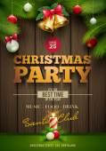 Vector Christmas Messagez and objects on wrinkled paper background Elements are layered separately in vector file
