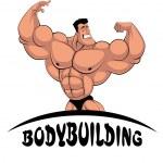 Постер, плакат: Caricature bodybuilder