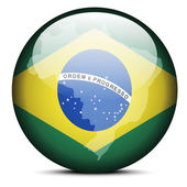 Vector Image - Map on flag button of Federative Republic of Brazil