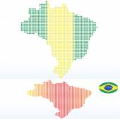 Vector Image -  Map of Federative Republic of Brazil with with Dot Pattern