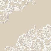 Angolo del fiore bianco, ornamento di pizzo