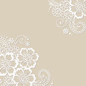 Blume-Vektor-Ornament-Ecke