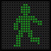 Traffic light spotlight on dark backgroun